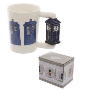 Novelty Ceramic Shaped Handle Police Box Mug