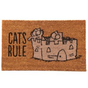 Simon's Cat Coir Door Mat - Cat's Rule