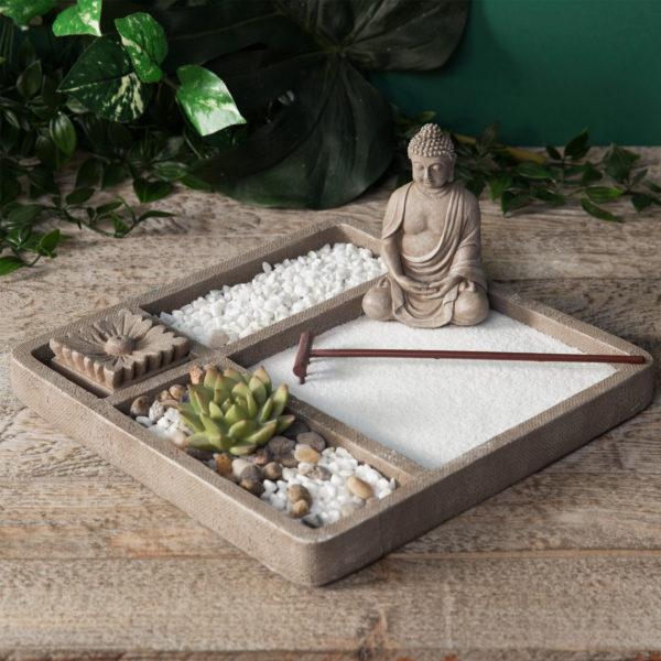 Amazonia Collection Thai Buddha Square Zen Garden Set