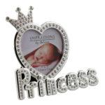 Silverplated & Epoxy Crystal Photo Frame 'Princess'Silverplated & Epoxy Crystal Photo Frame 'Princess'