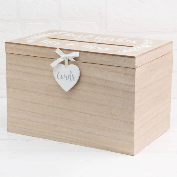 Love Story MDF Card Box Best Wishes For The Mr & Mrs 32cm