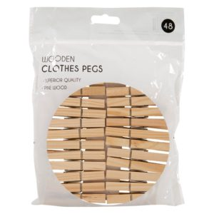 Wooden Pegs - 48 PackWooden Pegs - 48 Pack