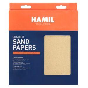 Assorted Sandpaper Sheets - 20 PackAssorted Sandpaper Sheets - 20 Pack