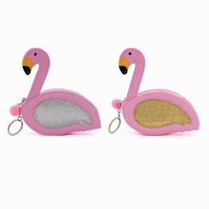 Assortment of 2 Pink Flamingo Purse KeyringAssortment of 2 Pink Flamingo Purse Keyring