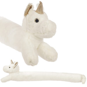 Cute White Unicorn Draught Excluder