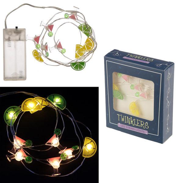 Decorative LED Light String – Cocktails, Lemon and Lime
