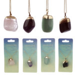 Gemstone  and  Mineral Tumbled Pendant Necklace