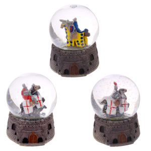 Knight Snow Globe - Mounted on Horseback