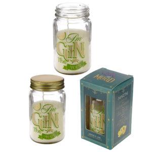 Summer Fragranced Candle Jar - Gin Slogan