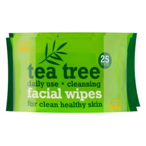 Tea Tree Facial Wipes 2 x 25 PackTea Tree Facial Wipes 2 x 25 Pack