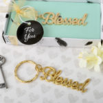 Blessed theme gold metal key chainBlessed theme gold metal key chain