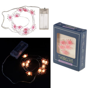 Decorative LED Light String - Pink Crowns