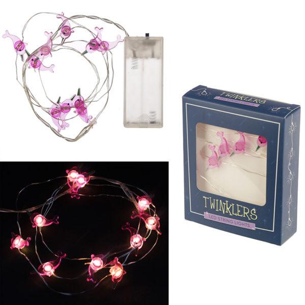 Decorative LED Light String – Pink Narwhal