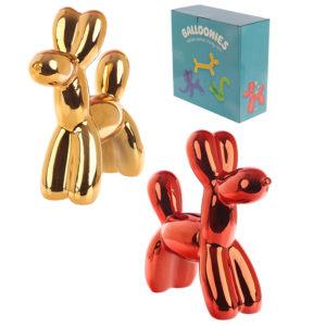 Fun Collectable Metallic Balloon Animal Dog Money Box