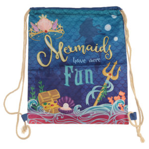 Handy Cotton Drawstring Bag - Mermaid Slogan