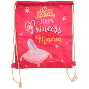 Handy Cotton Drawstring Bag - Princess Slogan
