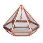 Copper Hanging Prism Ring Holder
