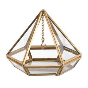 Gold Hanging Prism Ring HolderGold Hanging Prism Ring Holder