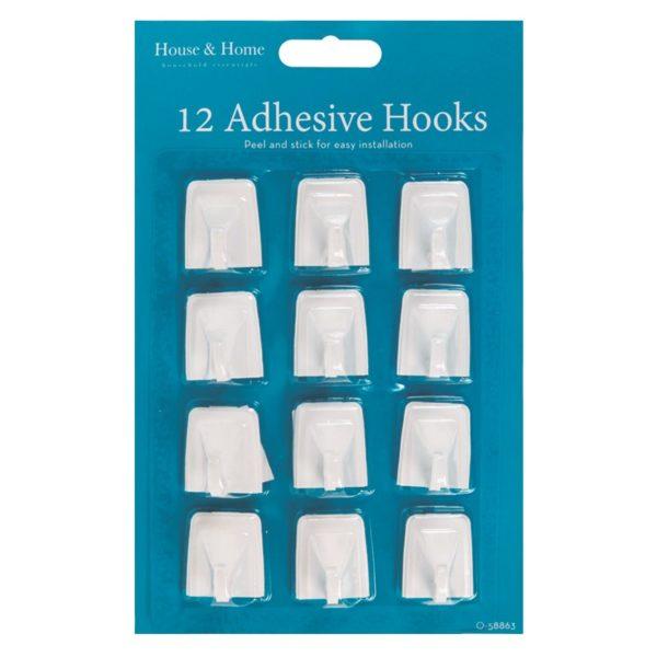 Self Adhesive Hooks – 12 Pack