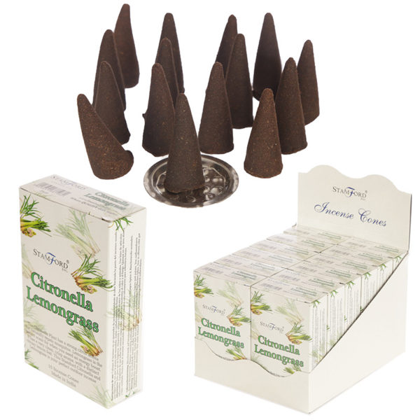 Stamford Hex Incense Cones – Citronella an Lemongrass