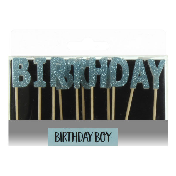 Celebrations Blue Letter Candles – Birthday Boy