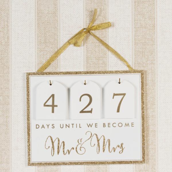 Always & Forever MDF Countdown Calendar To Wedding