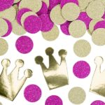 Confetti Princess, mix, 4gConfetti Princess, mix of designs (crowns made of gold mirror paper and circles made of dark pink glittery paper). Pack contains approx. 4g