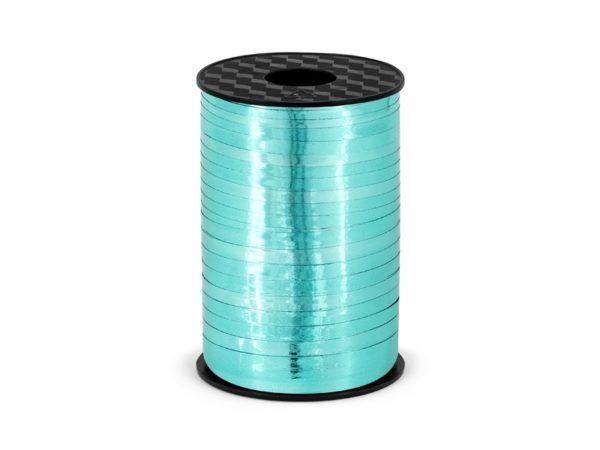Plastic ribbon, turquoise, 5mm