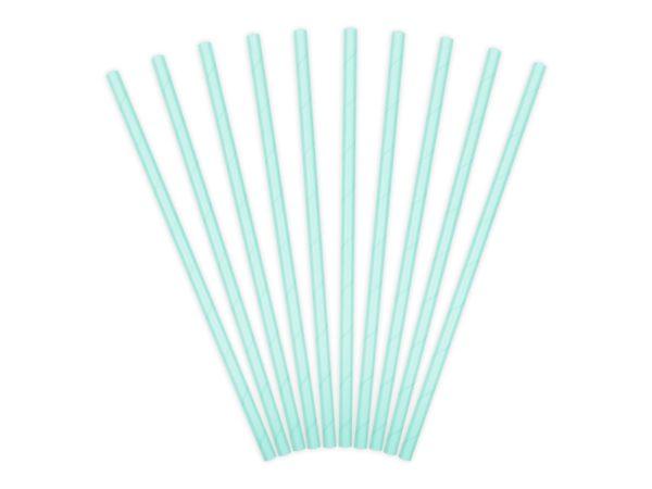 Paper Straws, sky-blue, 19.5cm (1 pkt