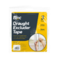 Draught Excluder Tape - 3 RollsThis pack of Draught Excluder Tape contains three rolls of tape that each measure a total of 4.5 metres in length.  Each roll of tape is constructed from self-adhesive weatherproof foam tape, making it ideal for protecting windows and doors from draughts.   The tape can seal gaps up to 3-5mm.