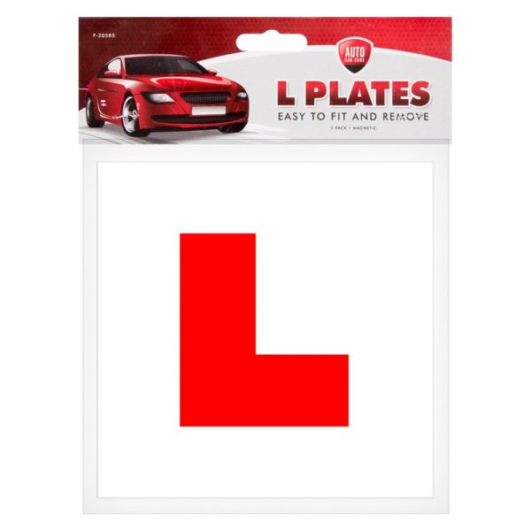 Magnetic L-Plates – 2 Pack