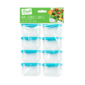 Mini Storage Boxes - 8 PackThis set of Mini Storage Boxes contains eight individual boxes that are constructed from durable plastic and perfect for storing fruit, nuts and other snacks.   These boxes are dishwasher, freezer and microwave safe and are suitable for all food types.