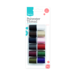 Polyester Thread 32m - 12 PackThis Polyester Thread is perfect for use in all sewing project and makes a essential addition to every sewing kit.   Each pack contains twelve rolls, each measuring 32m.