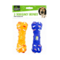 Squeaky Bone Dog Toy - 2 PackThese packs of Squeaky Bone Dog Toys contains two pet toys that have been manufactured to a high quality standard using strong PVC.  Each dog bone measures 15cm in length and features an internal squeaker to keep dogs amused.  Suitable for all types of play and fetch games for all types of dog.