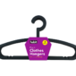 Plastic Clothes Hangers - 4 PackThis pack of Plastic Clothes Hangers contains four individual hangers that are made of strong durable plastic and feature a bar to hold trousers, leggings and skirts.   Each coat hanger measures 40.5cm x 21cm.
