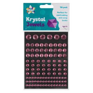 Pink Crystal Jewel Stickers - 110 PackPink Crystal Jewel Stickers - 110 Pack