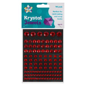 Red Crystal Jewel Stickers - 110 PackRed Crystal Jewel Stickers - 110 Pack
