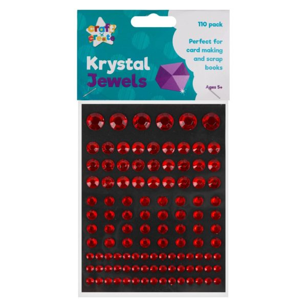Red Crystal Jewel Stickers – 110 Pack