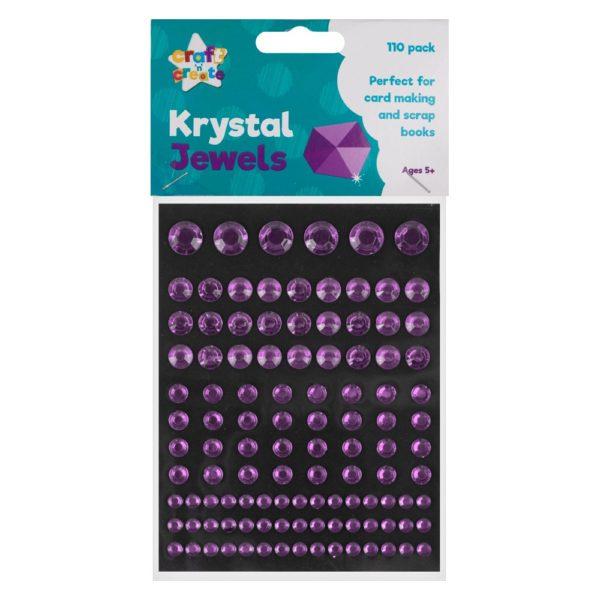 Purple Crystal Jewel Stickers – 110 Pack