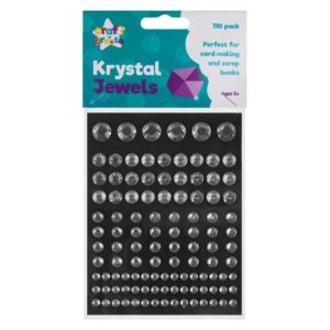 Silver Crystal Jewel Stickers - 110 PackSilver Crystal Jewel Stickers - 110 Pack