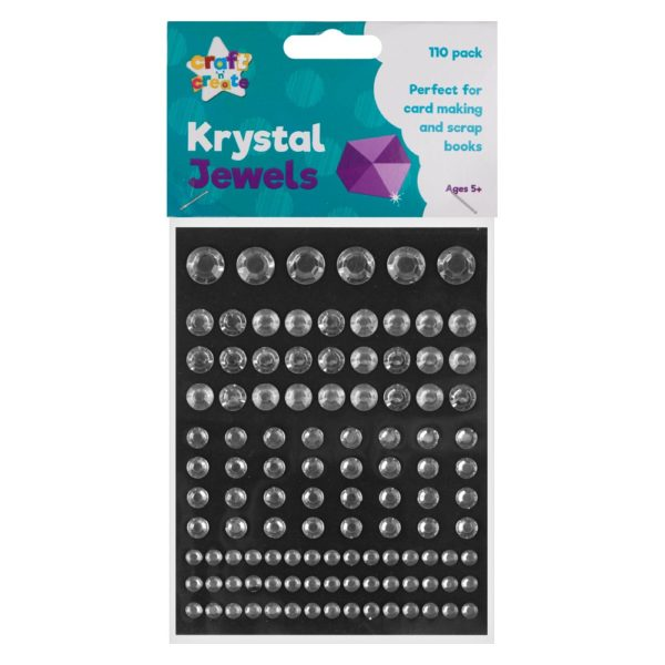 Silver Crystal Jewel Stickers – 110 Pack