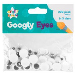 Craft Googly Eyes - 200 PackCraft Googly Eyes - 200 Pack