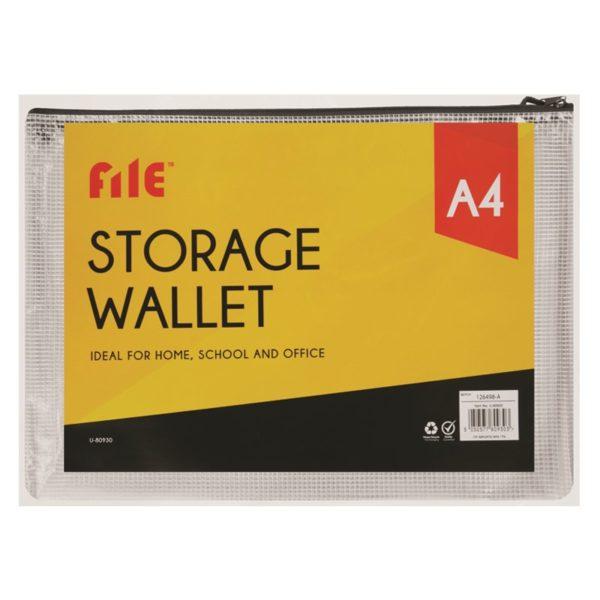 Grey A4 Storage Wallet