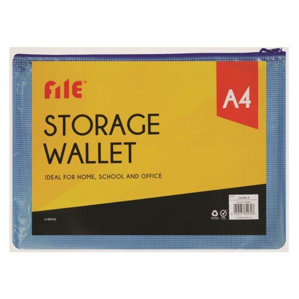 Blue A4 Storage Wallet