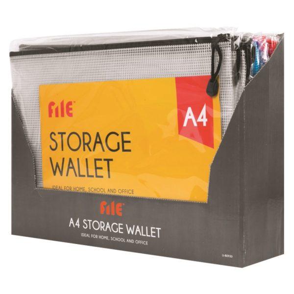Purple  A4 Storage Wallet