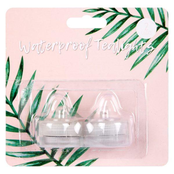 Waterproof LED Tealight – 2 Pack
