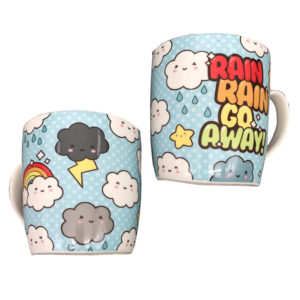 Collectable New Bone China Mug - Cute Kawaii Weather Design