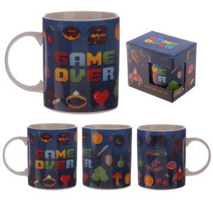 Collectable New Bone China Mug - Game Over Design