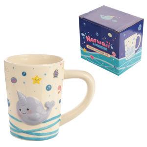 Cute Collectable Narwhal Ceramic Mug