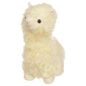 Cute Fluffy Alpaca Door Stop - White